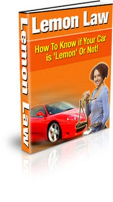 Product picture Lemon Law How to Know if Your Car is a Lemon or Not with PLR